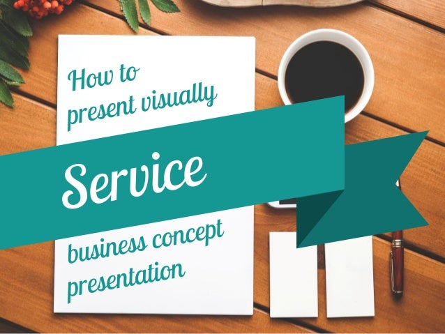 How to quickly represent a service concept in your document?