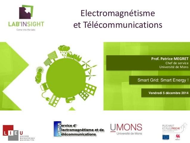 Electromagnétisme  et Télécommunications  Prof. Patrice MEGRET  Chef de service  Université de Mons  Smart Grid: Smart Ene...