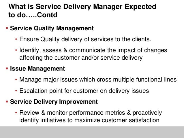 service delivery manager