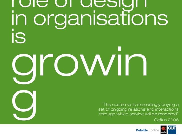 Service design ausralia 2012   Blended teams,  Slide 2