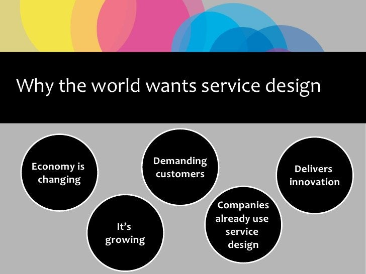Why the world wants service design                           Demanding  Economy is                                        ...