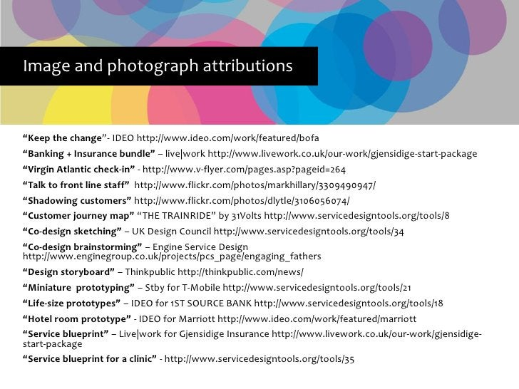 """Image and photograph attributions   """"Keep the change""""- IDEO http://www.ideo.com/work/featured/bofa """"Banking + Insurance bu..."""