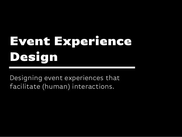 Katharina-Paulus-Str. Designing event experiences that facilitate (human) interactions. Event Experience Design
