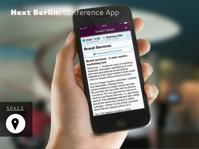 S PAC E Next Berlin: Conference App