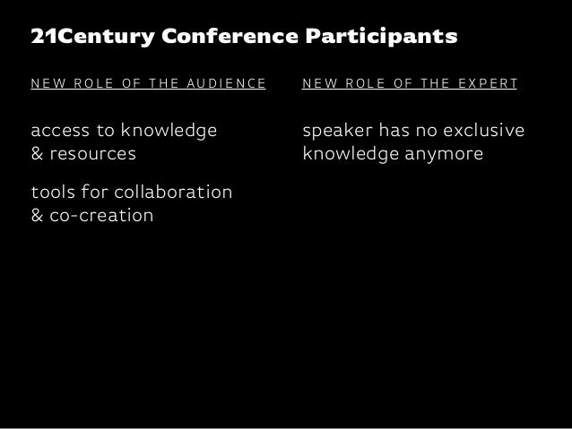 Katharina-Paulus-Str. 21Century Conference Participants speaker has no exclusive knowledge anymore access to knowledge & r...