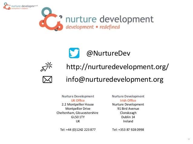 ©CopyrightNurtureDevelopment,2015 Nurture Development UK Office 2.2 Montpellier House Montpellier Drive Cheltenham, Glouce...