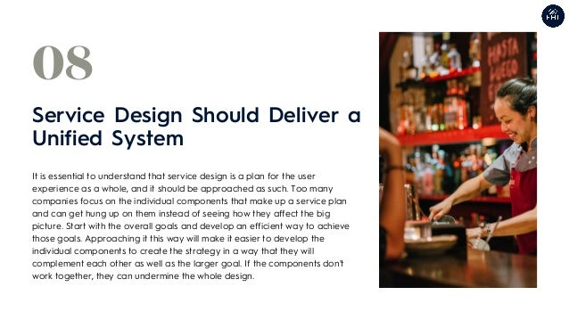 It is essential to understand that service design is a plan for the user experience as a whole, and it should be approache...