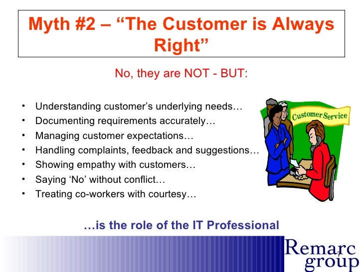 is customer always right essay