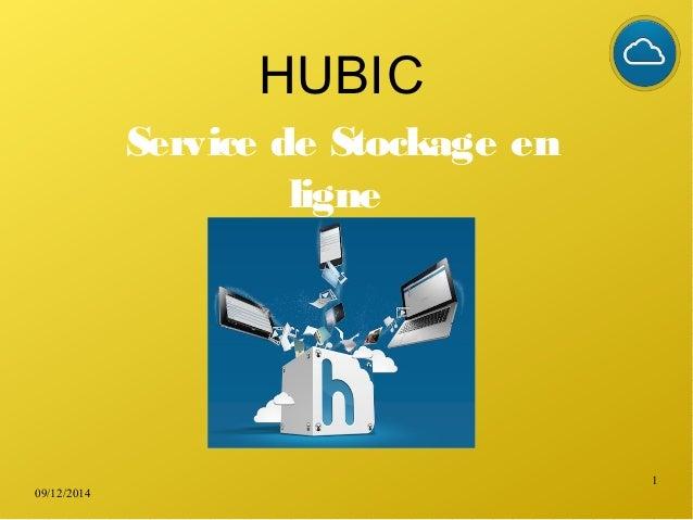 09/12/2014 1 HUBIC Service de Stockage en ligne
