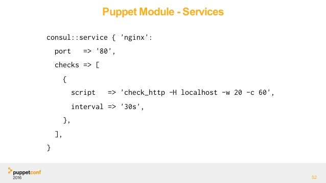 Service discovery and puppet for Puppet consul template