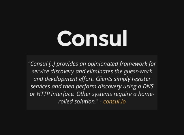 Service discovery in a microservice architecture using consul for Consul register service