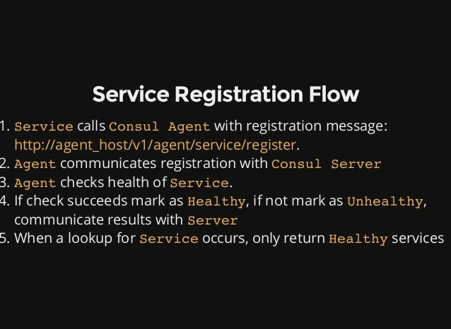 Service discovery in a microservice architecture using consul for Consul healthcheck