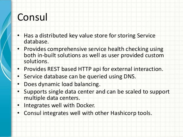 Service discovery using etcd consul and kubernetes for Consul docker tutorial