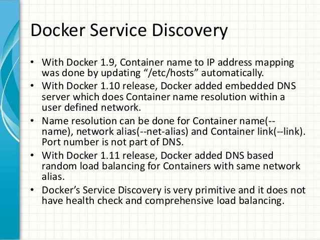 Service discovery using etcd consul and kubernetes for Docker consul dns