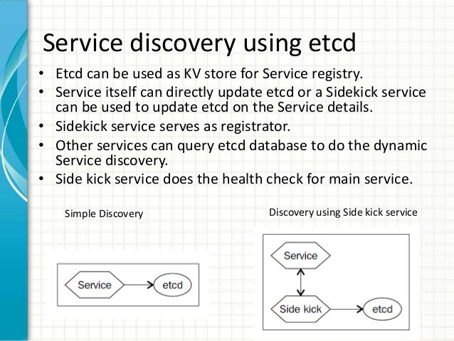 Service discovery using etcd consul and kubernetes for Registrator health check