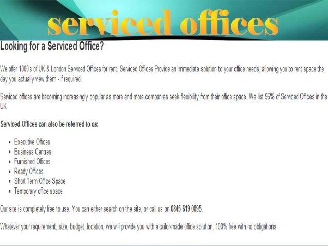 Serviced offices Slide 3