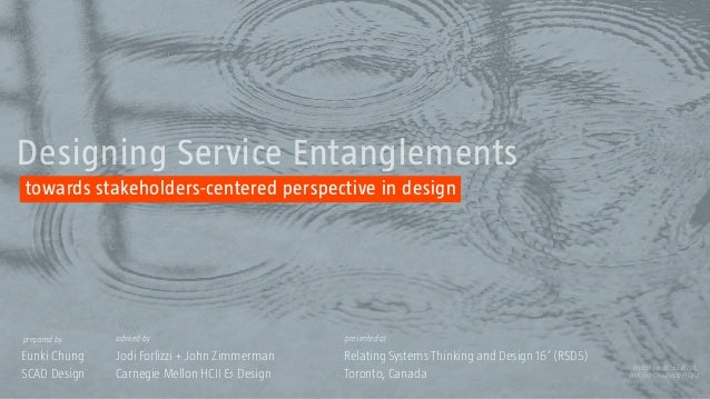 Relating Systems Thinking and Design 16' (RSD5)Eunki Chung Jodi Forlizzi + John Zimmerman advised byprepared by presented ...