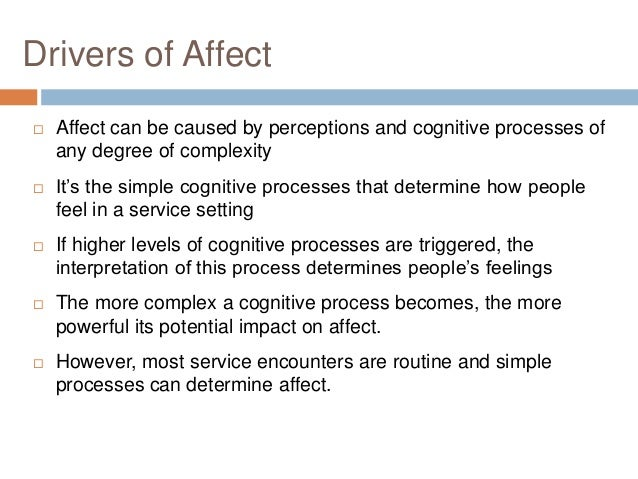 An examination of how emotions affect the cognitive process of an individual