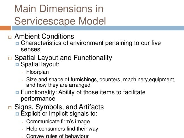 the impact of servicescape in a Apart from this, wakefield and blodgett's model have studied the effect of  servicescape on customers' behavioral intentions in leisure, referring to (b) ( figure 3.