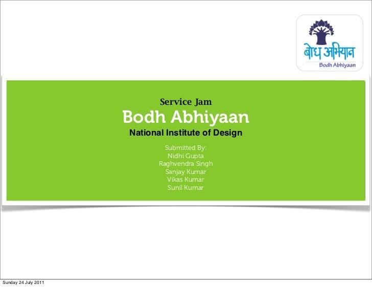 Service Jam                      Bodh Abhiyaan                      National Institute of Design                          ...