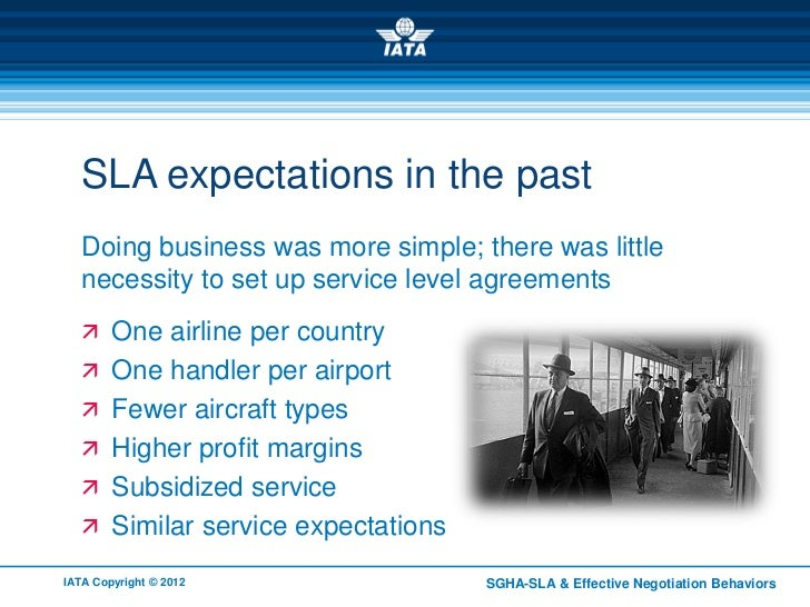 SLA Expectations In The Past Doing Business ...