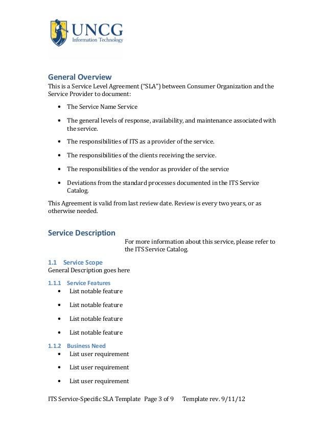 Service levelagreementtemplate v8