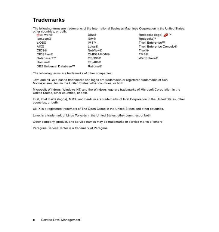 service level management using ibm tivoli service level advisor and t rh slideshare net Owner's Manual Service ManualsOnline