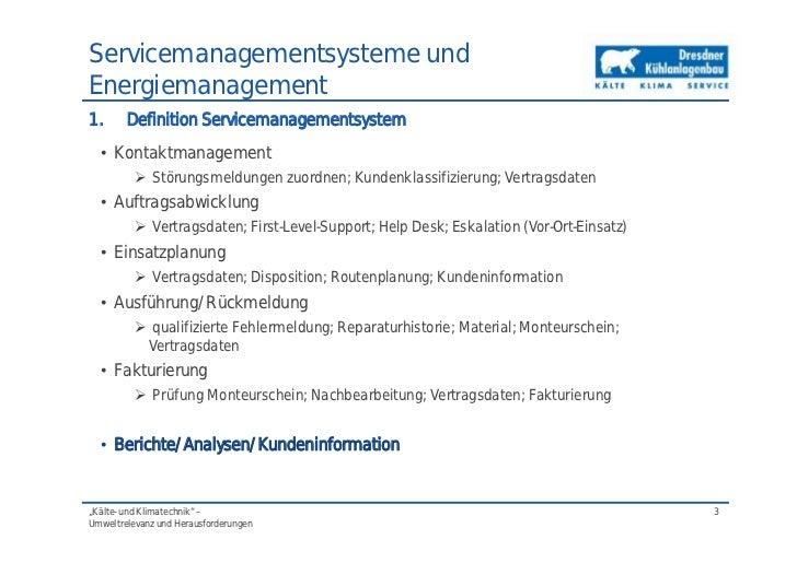 Servicemanagementsysteme in der Kältetechnik (Dipl.-Ing. Gunter Schil…
