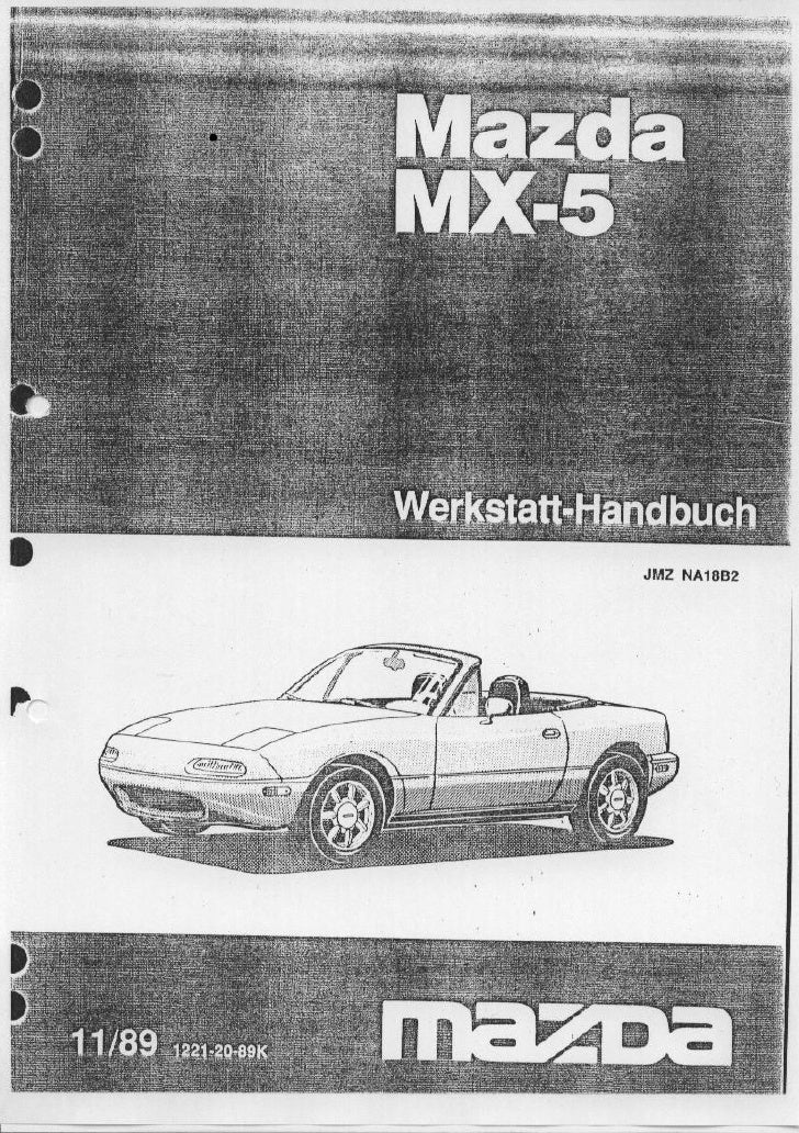 service manual mazda mx 5 miata german rh slideshare net NC Miata mazda mx5 na workshop manual