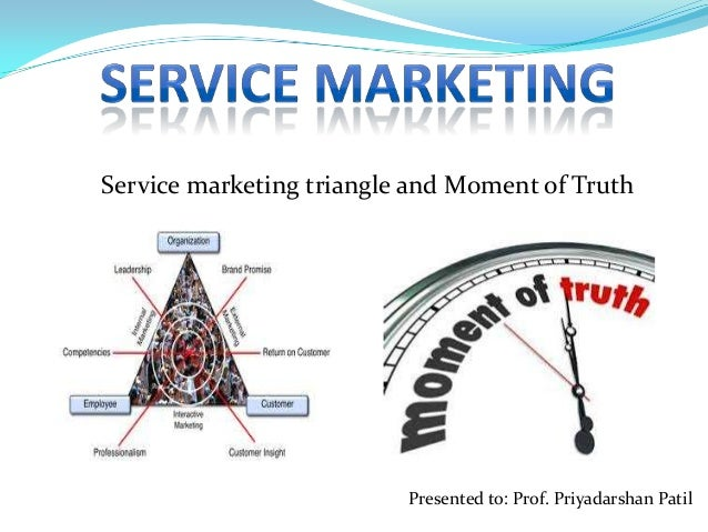 Service marketing triangle and Moment of Truth  Presented to: Prof. Priyadarshan Patil