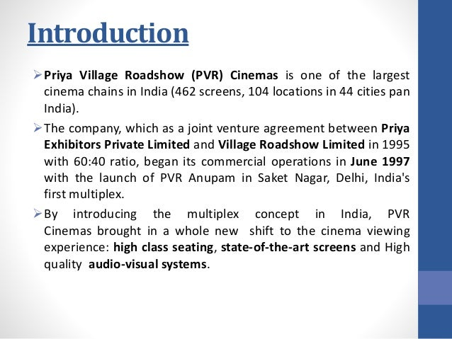 marketing strategy of pvr cinema 7 hours ago  as long as pvr exists, we should always have some cinema under  we would  also like to be a $1 billion company in terms of market  the strategy worked and  after the initial hiccups, priya began doing very well added to.
