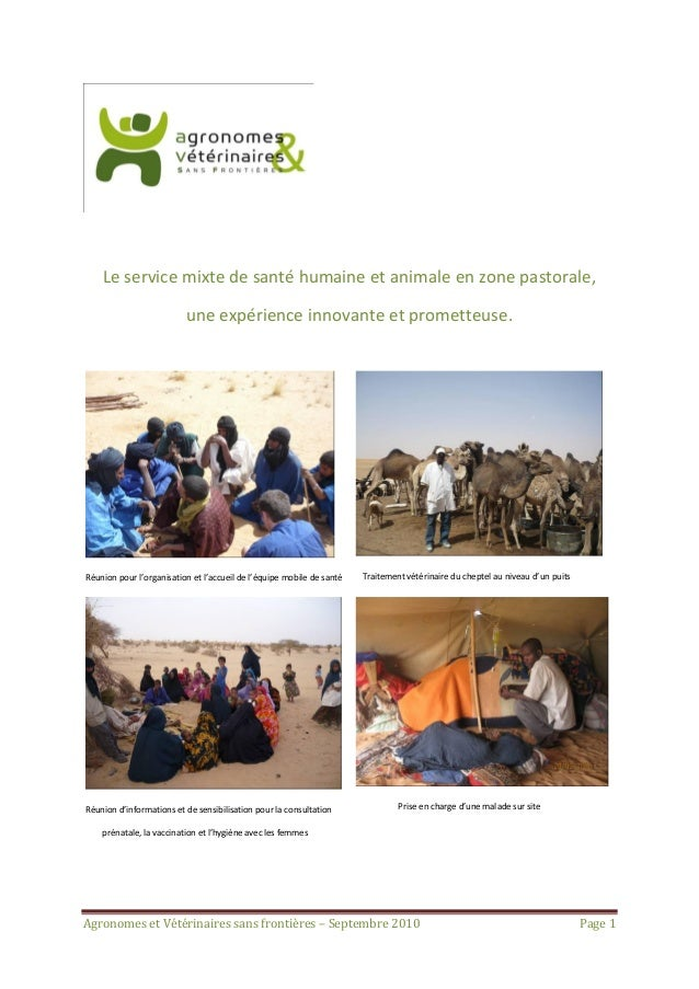 Le service mixte de santé humaine et animale en zone pastorale,                          une expérience innovante et prome...