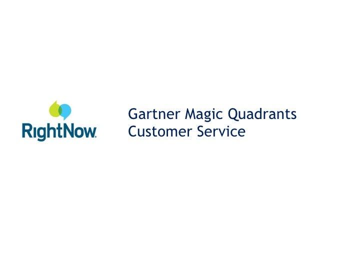 Gartner Magic Quadrants Customer Service