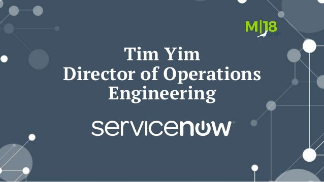 Tim Yim Director of Operations Engineering