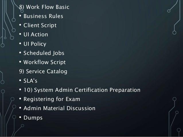Servicenow Admin & Advanced Online Training Syllabus