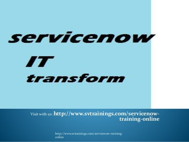 Servicenow ppt