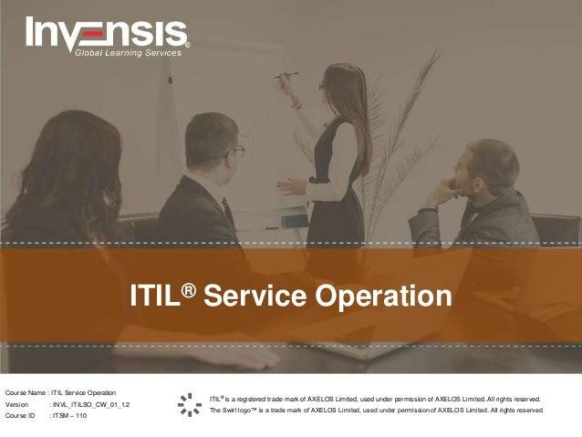 itil intermediate service operation pdf