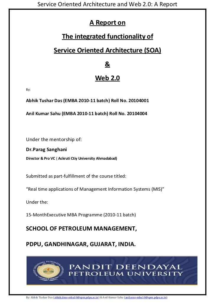 A Report on<br />The integrated functionality of<br />Service Oriented Architecture (SOA)<br />&<br />Web 2.0<br />By:<br ...