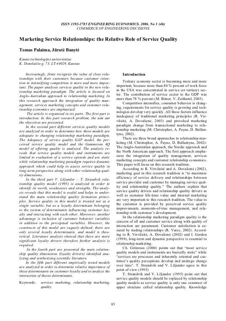 ISSN 1392-2785 ENGINEERING ECONOMICS. 2006. No 1 (46)                                    COMMERCE OF ENGINEERING DECISIONS...