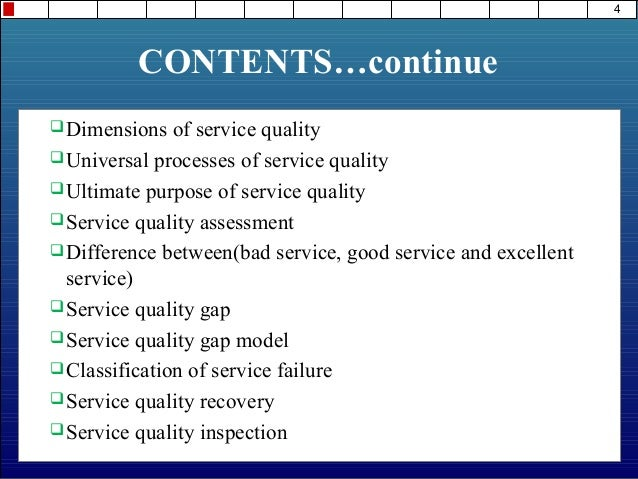 determinants of service quality with suitable examples