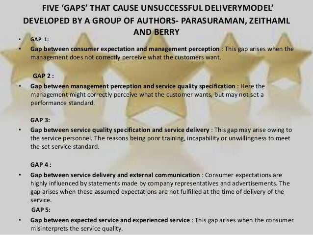 5 gaps in service quality