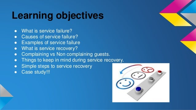 Service failure and service recovery