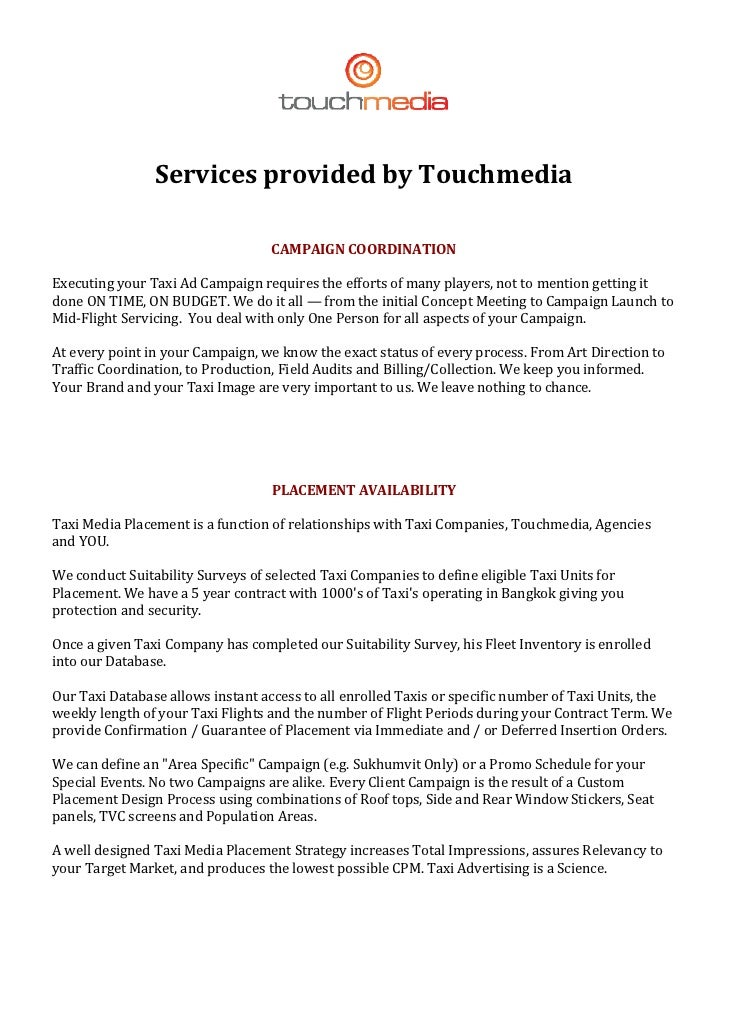 ServicesprovidedbyTouchmedia              ...