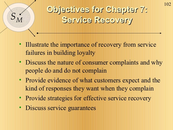 Objectives for Chapter 7: Service Recovery <ul><li>Illustrate the importance of recovery from service failures in building...