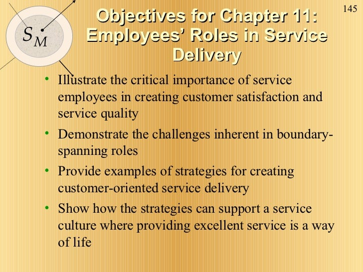 Objectives for Chapter 11: Employees' Roles in Service Delivery <ul><li>Illustrate the critical importance of service empl...