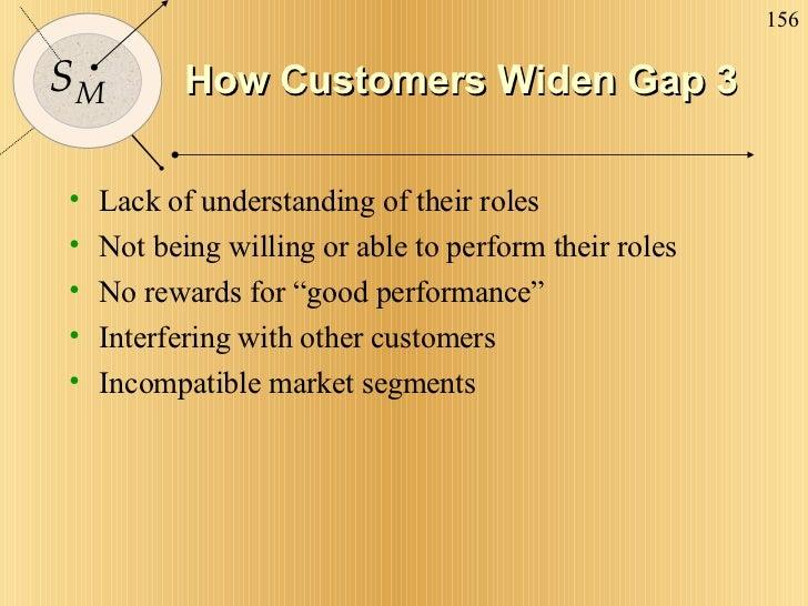 How Customers Widen Gap 3 <ul><li>Lack of understanding of their roles </li></ul><ul><li>Not being willing or able to perf...