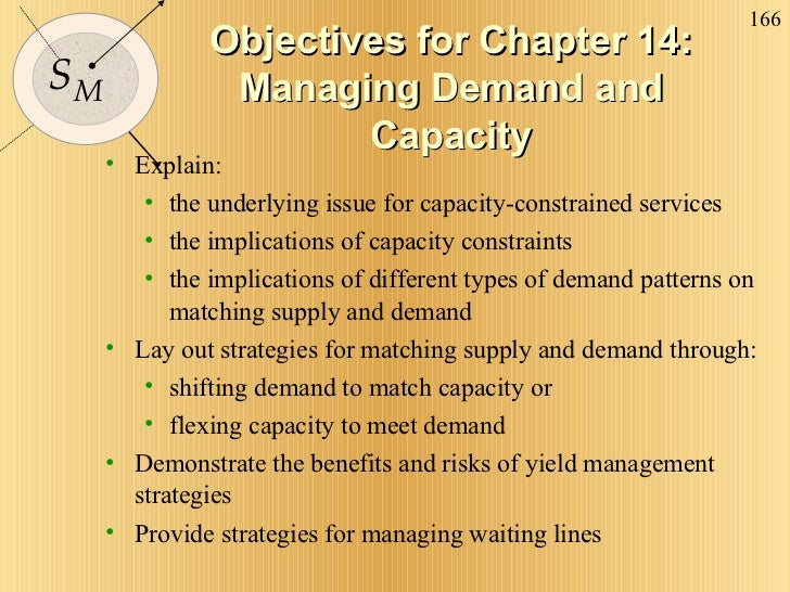 Objectives for Chapter 14: Managing Demand and Capacity <ul><li>Explain: </li></ul><ul><ul><li>the underlying issue for ca...
