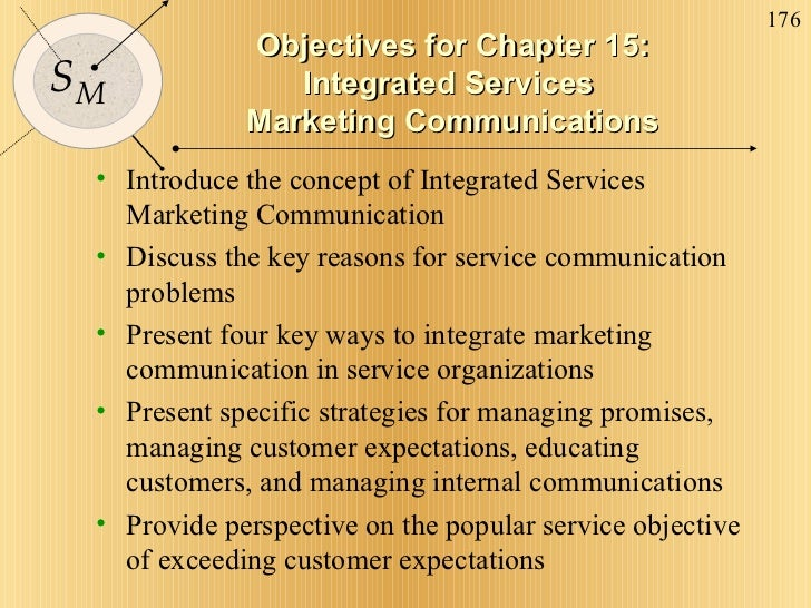 Objectives for Chapter 15: Integrated Services  Marketing Communications <ul><li>Introduce the concept of Integrated Servi...