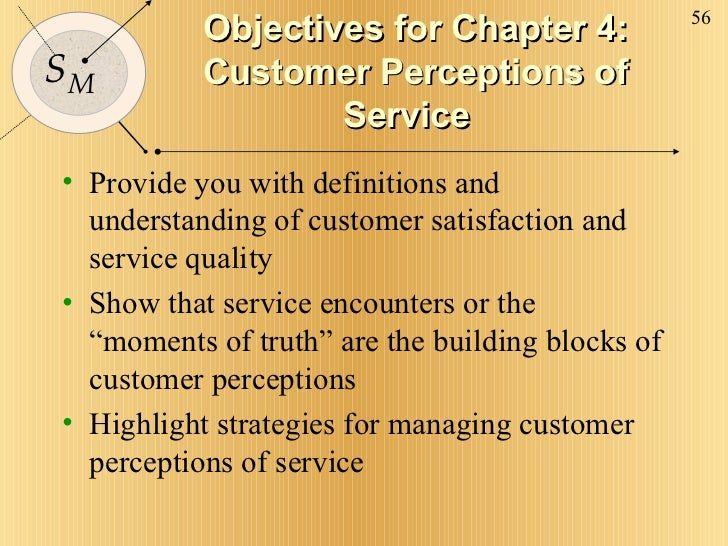 Objectives for Chapter 4: Customer Perceptions of Service <ul><li>Provide you with definitions and understanding of custom...