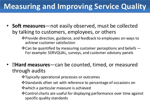 improving customer service quality in When the impact of poor service is measured in terms of  product and service quality customer  investment in service quality and improving customer.